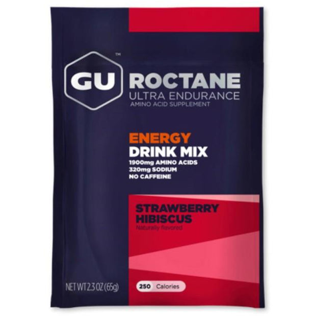 Gu Roctane Energy Drink Mix strawberry hibiscus full view