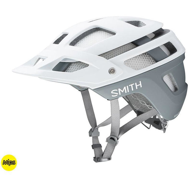 Smith Forefront 2 MIPS Mountain Bike Helmet, Matte White, Full View