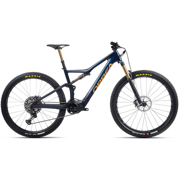2021 Orbea Rise M-LTD, Coal Blue/Red/Gold, Full View