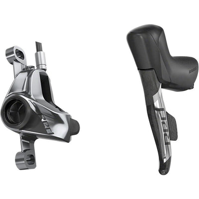 SRAM RED eTap AXS HRD Shift/Brake Lever and Hydraulic Disc Caliper - Left/Front, Post Mount, 950mm Hose, Black/Silver, D1, Full View