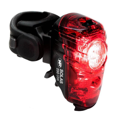 NiteRider Solas 250 RED Led taillight full view