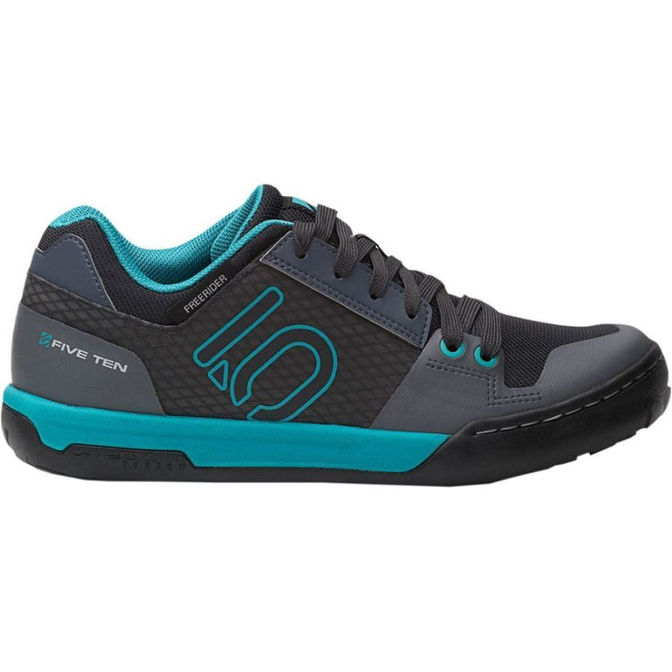Five Ten Women's Freerider Contact mountain bike shoe onyx turquoise