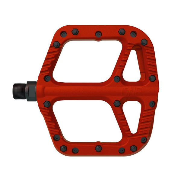 OneUp Components Composite Platform Pedals red full view