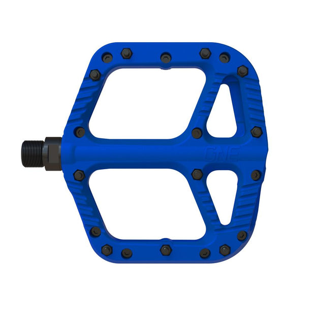 OneUp Components Composite Platform Pedals blue full view