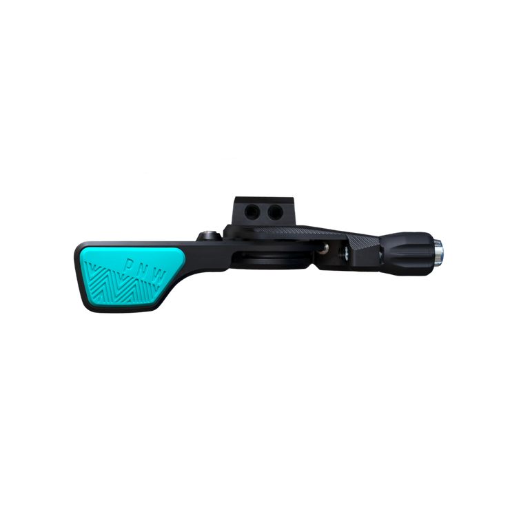 pnw black and teal lever remote
