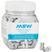 MSW Presta Valve to Schrader Valve Adapter, Jar of 150, Full  View