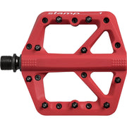 Crankbrothers Stamp 1 Platform Pedal, Red, Full View