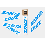 Santa Cruz Custom Downtube Decal bright blue in package