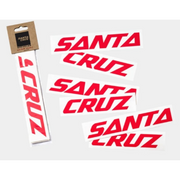 Santa Cruz Custom Downtube Decal red in package