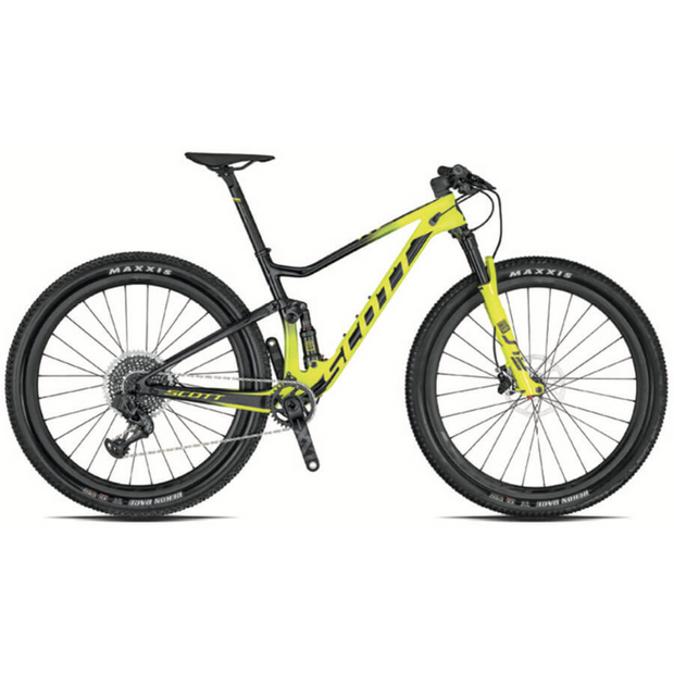 Scott Spark RC 900 World Cup yellow/black full view
