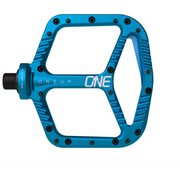 OneUp Aluminum Platform Pedals blue full view