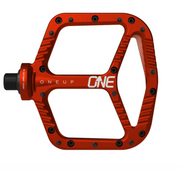 OneUp Aluminum Platform Pedals red view