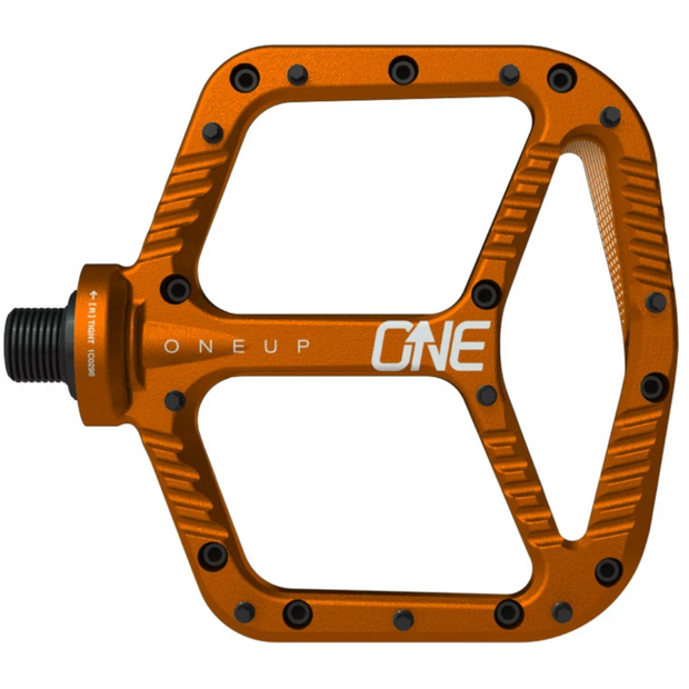 OneUp Aluminum Platform Pedals orange view