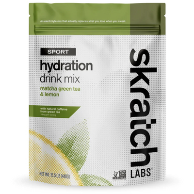 Skratch Hydration Mix matcha and lemon full view