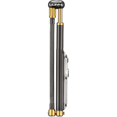 Lezyne Digital Shock Drive Pump black/gold full view