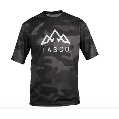 Tasco Camo Trail Short Sleeve Jersey black front view