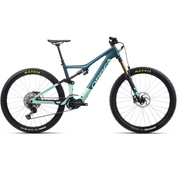 2021 Orbea Rise M10 ocean/green full view