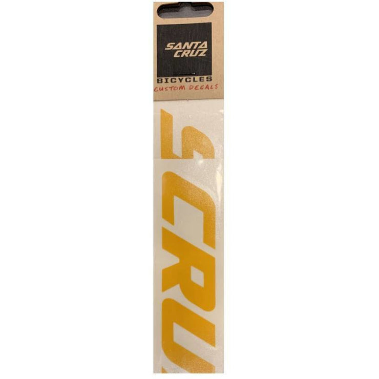 Santa Cruz Custom Downtube Decal dark yellow in package