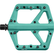 Crankbrothers Stamp 1 Platform Pedal, Turquoise, Full View