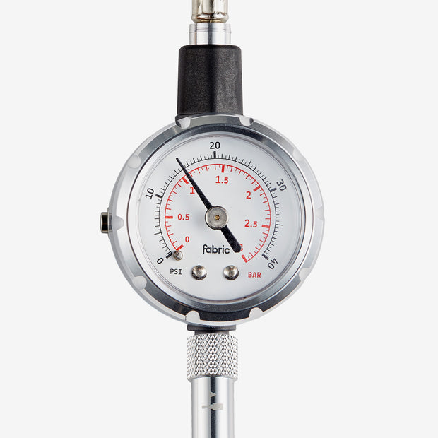 Fabric Accubar Pressure Gauge gauge closeup