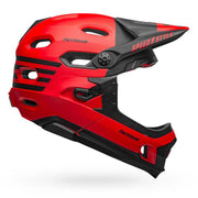 Bell Super DH MIPS Helmet  fasthouse matte red black ride side view