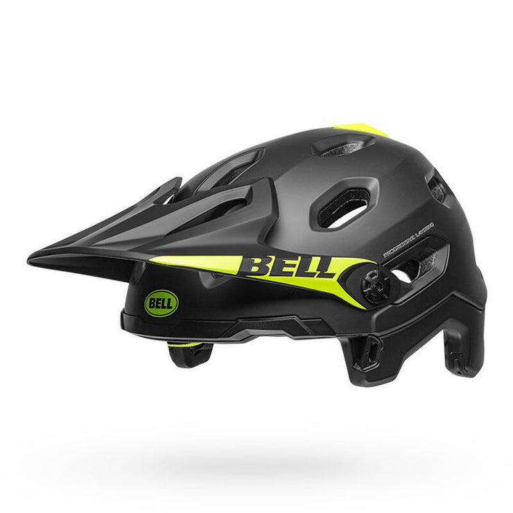 Bell Super DH MIPS Helmet  black front left no chinbar view