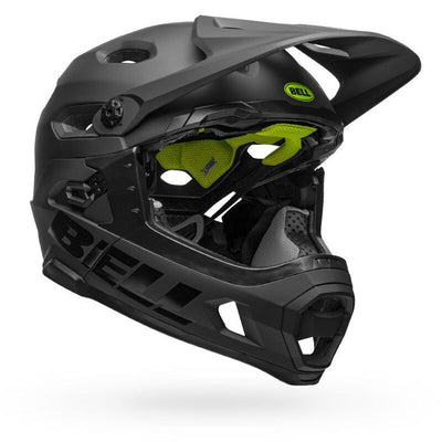 Bell Super DH MIPS Helmet Matte gloss black front right view