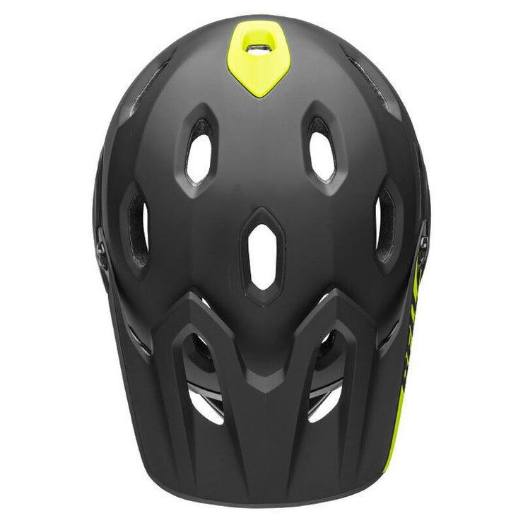 Bell Super DH MIPS Helmet  matte gloss black top view