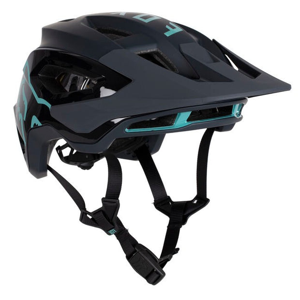 Fox Speedframe Pro teal front view