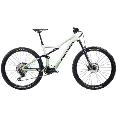 2021 Orbea Rise M20 Sap white/green fog full view