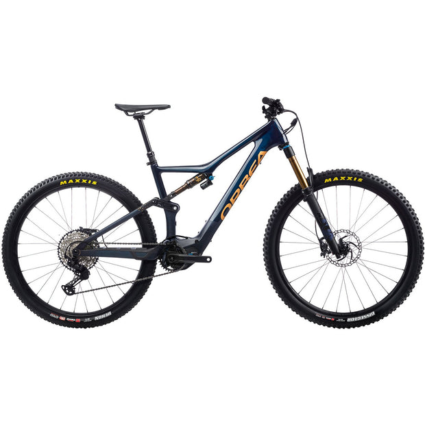 2021 Orbea Rise M10 red/blue full view