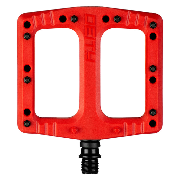 Deity Deftrap Pedals, Red Full View