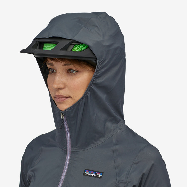 Patagonia Women's Dirt Roamer Jacket camp green hood