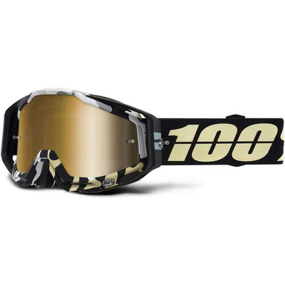 100% Goggles RaceCraft Ergoflas mirror gold lens full view