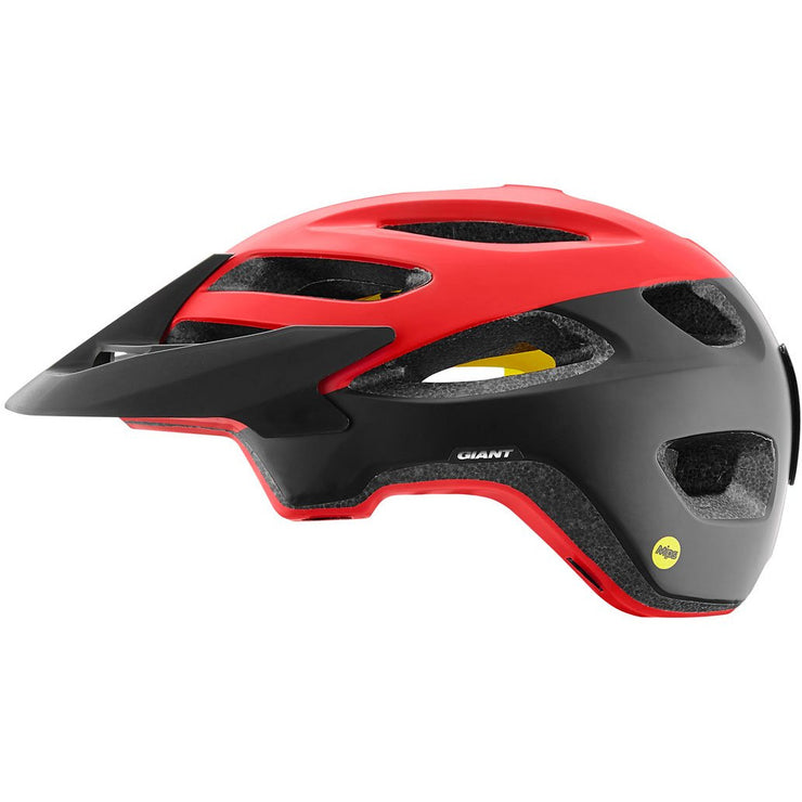 Giant Roost Helmets with Mips red full view