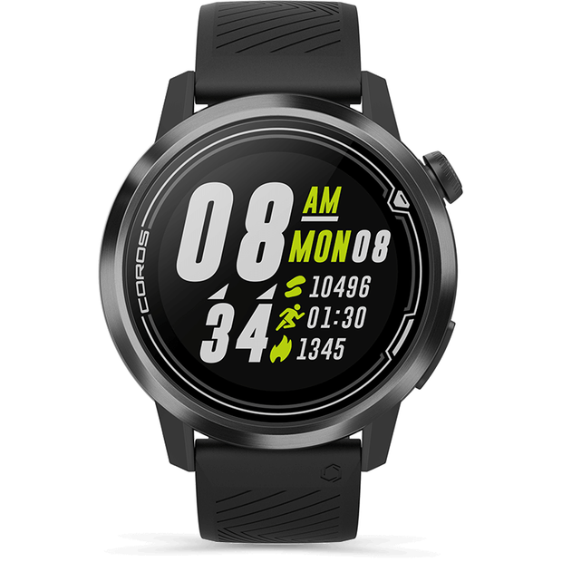 COROS APEX Premium Multisport GPS Watch black front view