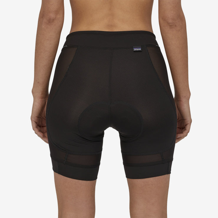 Patagonia Women's Dirt Craft Short liner short back view on model