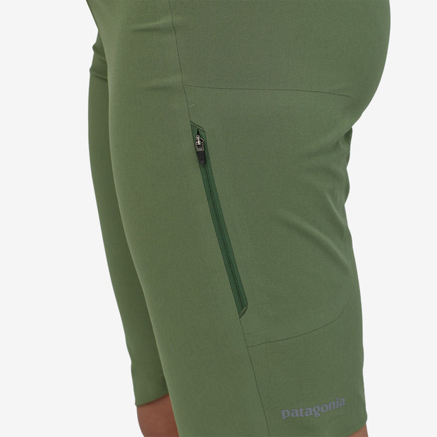 Patagonia Women's Dirt Roamer Short Camp Green on model
