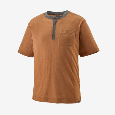 Patagonia Men's Cap Cool Trail Bike Henley Wood Brown