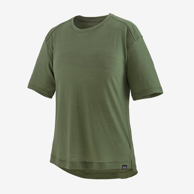 Patagonia Women's Merino Bike Jersey Camp Green
