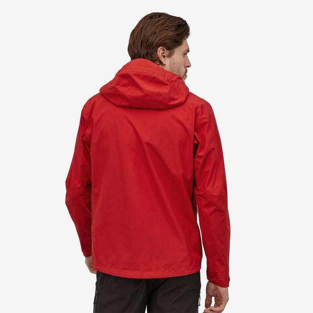Patagonia Men's Calcite Jacket back view on model