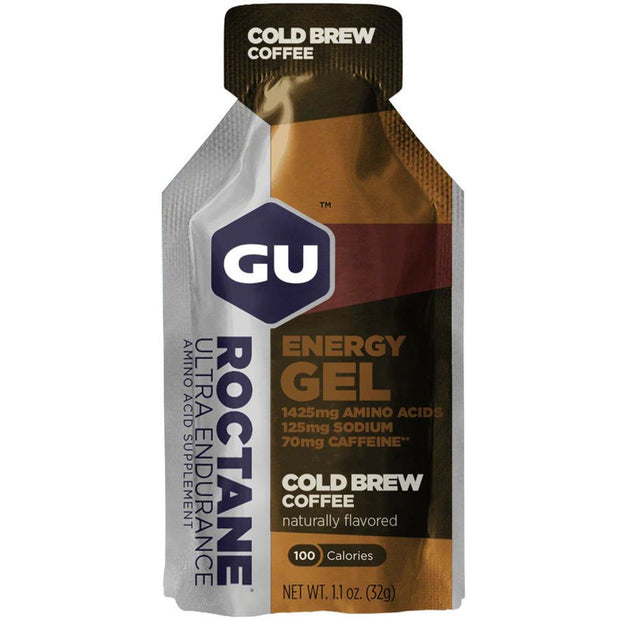GU Roctane Energy Gels Cold Brew Coffee full view