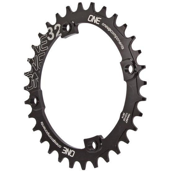 OneUp Components 104 Round Chainring, 104BCD 32T - Black, Full View