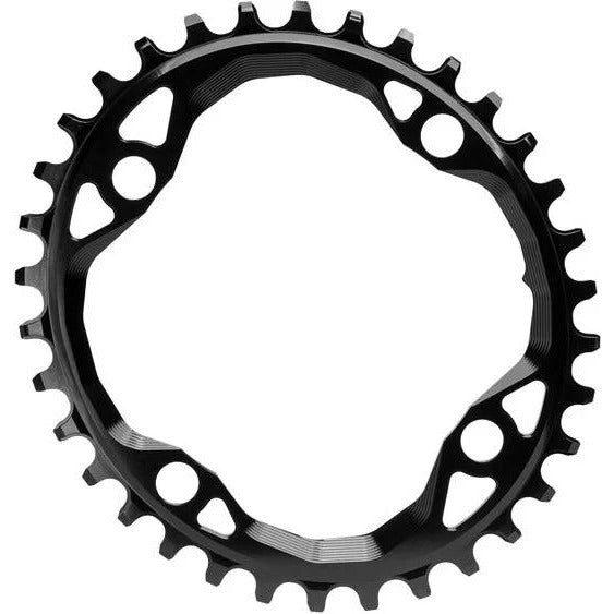 absoluteBLACK Oval 104 BCD Chainring - 32t, 104 BCD, 4-Bolt, Narrow-Wide, Black, Full View