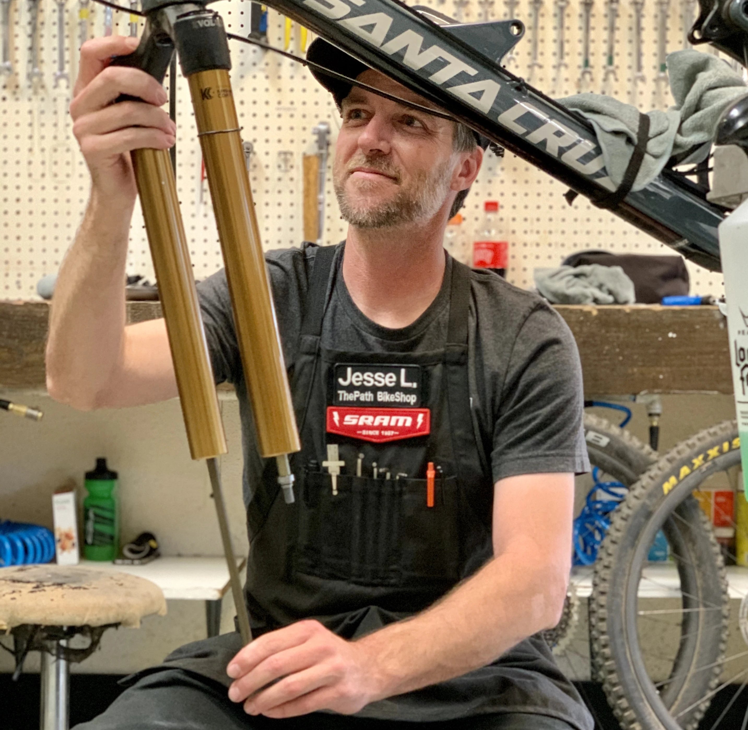 Path tech rebuilds a suspension for at our Tustin store.