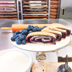 Blueberry Jam Kolachi Roll