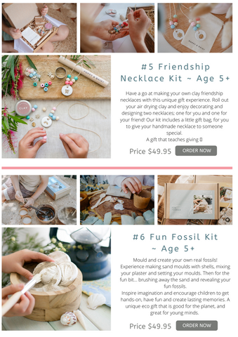 Fun fossil kit for kids DIY gift bags