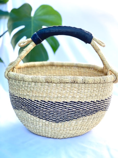 Medium Bolga Basket (monochrome) Market basket - Beach basket 8