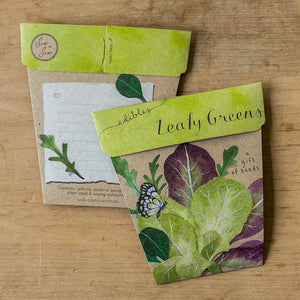 Leafy Greens Card & Gift of Seeds
