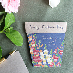 Mother's Day Card & Flowers Gift of Seeds